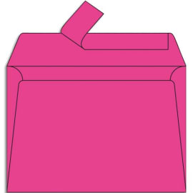 CLAIREFONTAINE Paquet de 20 enveloppes 120g POLLEN 11,4x16,2cm (C6). Coloris Rose fuchia photo du produit