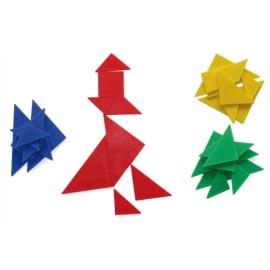 OZ INTERNATIONAL Jeu TANGRAM, composé de 4 OZ INTERNATIONAL Jeux de 7 pièces formant un carré photo du produit