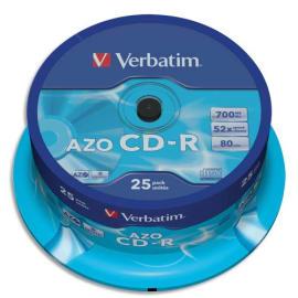 VERBATIM Tour de 25 CD 700 MB 43352 photo du produit