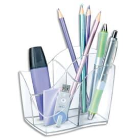 CEP Multipot Ellypse 4 compartiments, Dimensions L8,9 x H9,8 x P11,8 cm, coloris Cristal photo du produit