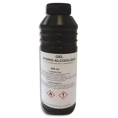 Bidon de 500ml de gel hydro-alcoolique avec 65% d'éthanol photo du produit Principale L