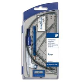 STAEDTLER Set scolaire 1 compas de précision avec attache-compas universelle intégrée + accessoires photo du produit