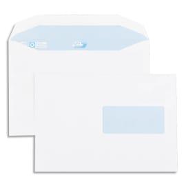 GPV Boîte de 500 enveloppes 162x229mm Blanches fenêtre 45x100 80g photo du produit