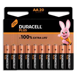 DURACELL Blister de 20 piles PLUS 100% AA X20 5000394141056 photo du produit