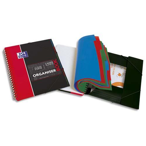 OXFORD Organiserbook 160 pages (couverture PP), Séyès (technologie réglure SCRIBZEE). Format A4+ photo du produit Principale L