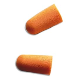 3M Boîte de 200 paires de Bouchons d'oreilles jetables en mousse souple conique Orange K1100 photo du produit