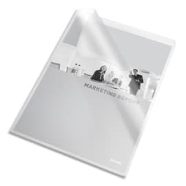 ESSELTE Boîte de 100 pochettes coins en pvc 20/100e incolore 420104 photo du produit