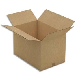 Paquet de 10 caisses américaines double cannelure en kraft brun - Dimensions : 60 x 40 x 40 cm photo du produit