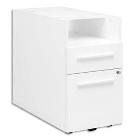 GAUTIER OFFICE Caisson bout de bureau pré-monté Yes Blanc, 2 tiroirs - Dimensions : L42 x H71 x P80 cm photo du produit