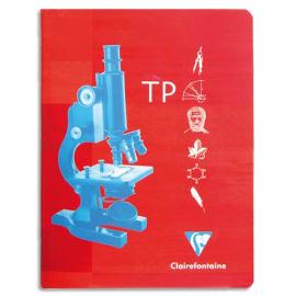 CLAIREFONTAINE Cahier TP reliure piqûre 24x32cm 32 pages unies 120g + 32 pages grands carreaux Séyès 90g. photo du produit