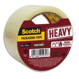 SCOTCH Adhésif d'emballage Heavy en polypropylène 57 microns - H50 mm x L50 mètres Transparent BP978 photo du produit