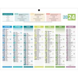 CBG Calendrier Mini 4 saisons, 7 mois par face soit 14 mois - format : 21 x 26,5 cm photo du produit