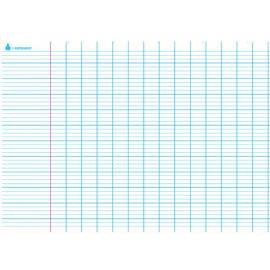 ART PLUS Carte grand Seyès avec marge en Polypro 5/10è, effaçable à sec - format 140 x 100 cm photo du produit