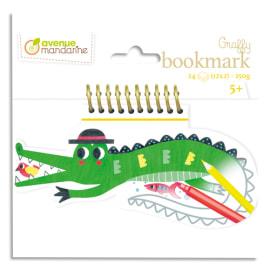 AVENUE MANDARINE Bloc de 24 marque page Graffy Bookmark à la forme, Croco photo du produit