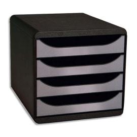 EXACOMPTA Module de classement 4 tiroirs BigBox Noir/Argent photo du produit