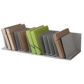 PAPERFLOW Trieurs 16 cases fixes inclinées pour documents A4 L91,2 x H20,6 x P31 cm, case L4,5 cm Gris photo du produit