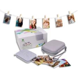 HP Pack Imprimante Sprocket Grise+ housse+guirlande lumineuse+20 feuilles 1AS98A#587 photo du produit