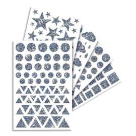 MAILDOR Sachet de 20 feuilles de gommettes holographiques assorties photo du produit