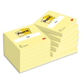 POST-IT Bloc repositionnable de 100 feuilles 76 x 76 mm Jaune 654E photo du produit