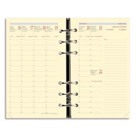 QUO VADIS Recharge Timer format 17, 1 semaine sur 2 pages à la verticale papier Ivoire photo du produit