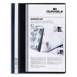 DURABLE Chemise de présentation Duraplus à lamelle A4 - personnalisable + gouttière de passage - Noir photo du produit