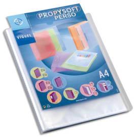 VIQUEL Protège document personnalisable 40 vues, 20 pochettes PROPYSOFT incolore photo du produit