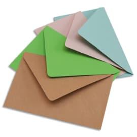 BONG Paquet de 200 enveloppes élection 75g non gommée format 9x14cm.Coloris assortis Bleu/bulle/rose/vert photo du produit