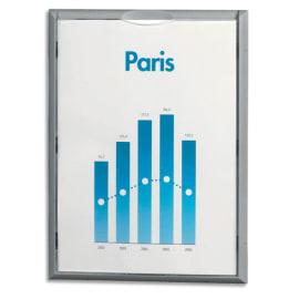 PAPERFLOW Cadre mural d'informations contour en polystyrène choc Gris format A4 L23,7 x H32,2 x P2,3 cm photo du produit