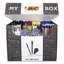 BIC Box contenant 124 instruments d'écriture : surligneurs, bille, correction, feutres EAS, marqueurs photo du produit
