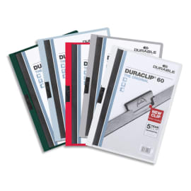 DURABLE Chemise de présentation Duraclip 30 à clip, couverture transparente - 1-30 feuilles A4 - Assortis photo du produit