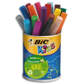 BIC Kids Visacolor XL Feutres de Coloriage à Pointe Large Et Résistante - Couleurs Assorties x18 photo du produit