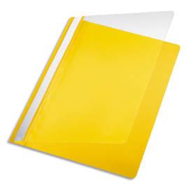 PERGAMY Chemise de présentation à lamelle en PP 17/100eme format A4. Coloris Jaune photo du produit