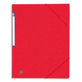 OXFORD Chemise simple à élastique TOP FILE, en carte lustrée 5/10e, 390g. Etiquette sur la tranche. Rouge photo du produit