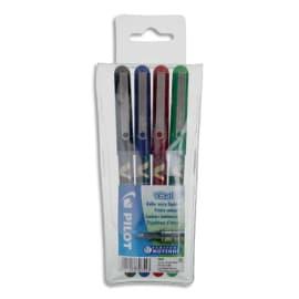 PILOT Pochette de 4 stylos feutre à bille pointe métal 4 couleurs d'encre V-BALL 05 photo du produit
