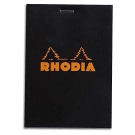 RHODIA Bloc de direction 160 pages n°12 8,5x12cm 5x5. Couverture Noire photo du produit