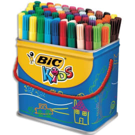 BIC Maxi Pot de 84 feutres pointe fine VISA couleurs assorties photo du produit