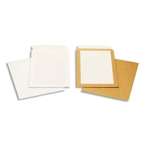BONG Boîte de 100 pochettes Blanches auto-adhésives dos cartonné 229X324 120G photo du produit Principale L