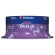 VERBATIM Tour de 25 DVD+R 4,7GB vitesse d'écriture 16x 43500 photo du produit