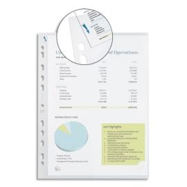OXFORD Boîte de 300 pochettes perforées QUICK'IN en polypro lisse 9/100e. Format A4, perforation 11 trous photo du produit
