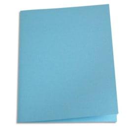 PERGAMY Paquet de 100 chemises carte recyclée 180 grammes coloris Bleu clair photo du produit