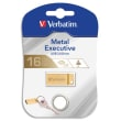 VERBATIM Clé USB 3.0 Store'N'Go Mini Metal Executive Gold 16Go 99104 photo du produit
