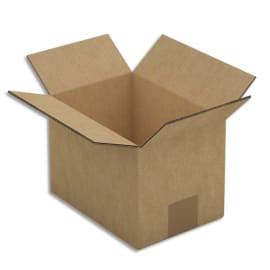 Paquet de 15 caisses américaines double cannelure en kraft brun - Dimensions : 20 x 14 x 14 cm photo du produit
