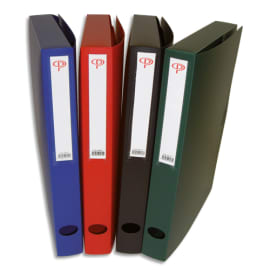 PERGAMY Boîte de classement dos de 4 cm, en polypropylène 7/10e. Coloris assortis photo du produit