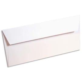 CLAIREFONTAINE Paquet de 20 enveloppes 120g POLLEN 11x22cm (DL). Coloris Blanc photo du produit