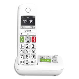 GIGASET Téléphone sans fil E290 solo blanc avec répondeur S30852-H2921-N102 photo du produit