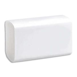Colis de 25 paquets d'Essuie-mains pure ouate 2 plis en Z 136 formats : 21,6 x 23 cm Blancs photo du produit