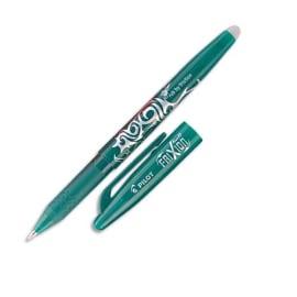 PILOT Stylo bille encre gel qui s'efface à l'aide de la gomme en bout de stylo FriXion coloris Vert photo du produit