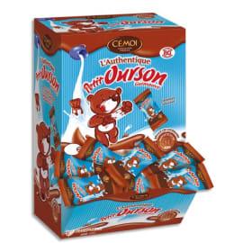CEMOI Boîte de 80 Petits Oursons guimauve enrobée de chocolat au lait emballés individuellement photo du produit