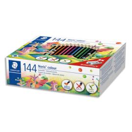 STAEDTLER Classpack de 144 crayons de couleur Noris colour 185 Wopex assortis + 3 taille crayons offerts photo du produit