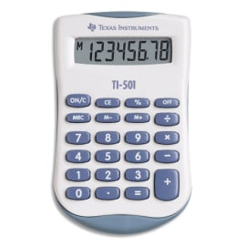 TEXAS INSTRUMENTS Calculatrice de poche TI-501 - 501/FBL/11E1 photo du produit